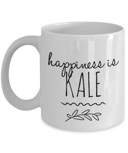 Happiness is Kale funny mug for vegan-Coffee Mug