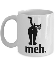 Load image into Gallery viewer, Meh Cat Butthole Mug Funny Gift Idea for Novelty Gag Coffee Tea Cup-Coffee Mug