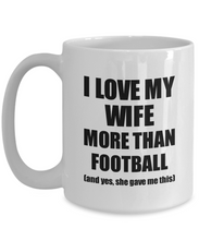 Load image into Gallery viewer, Football Husband Mug Funny Valentine Gift Idea For My Hubby Lover From Wife Coffee Tea Cup-Coffee Mug