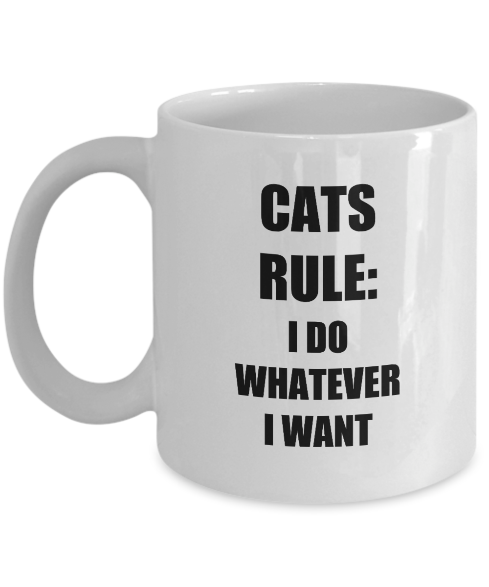 Cats Rule Mug Funny Gift Idea for Novelty Gag Coffee Tea Cup-[style]