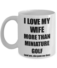 Load image into Gallery viewer, Miniature Golf Husband Mug Funny Valentine Gift Idea For My Hubby Lover From Wife Coffee Tea Cup-Coffee Mug