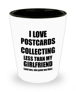 Postcards Collecting Boyfriend Shot Glass Funny Valentine Gift Idea For My Bf From Girlfriend I Love Liquor Lover Alcohol 1.5 oz Shotglass-Shot Glass