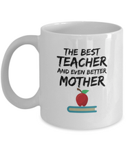 Load image into Gallery viewer, Funny Teacher Mom Gift Best Mother Coffee Cup Mug-Coffee Mug