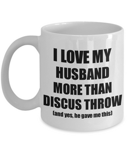 Discus Throw Wife Mug Funny Valentine Gift Idea For My Spouse Lover From Husband Coffee Tea Cup-Coffee Mug