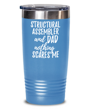 Load image into Gallery viewer, Funny Structural Assembler Dad Tumbler Gift Idea for Father Gag Joke Nothing Scares Me Coffee Tea Insulated Cup With Lid-Tumbler