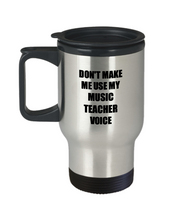 Load image into Gallery viewer, Music Teacher Travel Mug Coworker Gift Idea Funny Gag For Job Coffee Tea 14oz Commuter Stainless Steel-Travel Mug