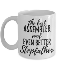 Load image into Gallery viewer, Assembler Stepfather Funny Gift Idea for Stepdad Gag Inspiring Joke The Best And Even Better-Coffee Mug