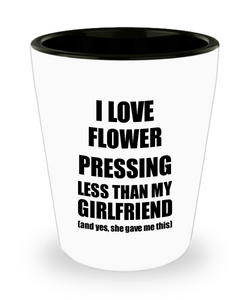 Flower Pressing Boyfriend Shot Glass Funny Valentine Gift Idea For My Bf From Girlfriend I Love Liquor Lover Alcohol 1.5 oz Shotglass-Shot Glass