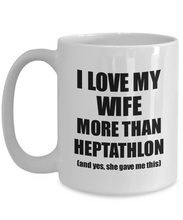 Load image into Gallery viewer, Heptathlon Husband Mug Funny Valentine Gift Idea For My Hubby Lover From Wife Coffee Tea Cup-Coffee Mug