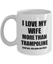 Load image into Gallery viewer, Trampoline Husband Mug Funny Valentine Gift Idea For My Hubby Lover From Wife Coffee Tea Cup-Coffee Mug