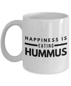 Happiness is hummus funny mug for vegan-Coffee Mug
