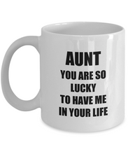 Load image into Gallery viewer, Lucky Aunt Mug Funny Gift Idea for Novelty Gag Coffee Tea Cup-Coffee Mug