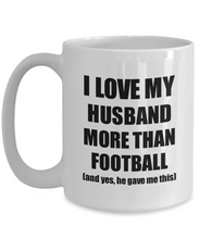 Load image into Gallery viewer, Football Wife Mug Funny Valentine Gift Idea For My Spouse Lover From Husband Coffee Tea Cup-Coffee Mug