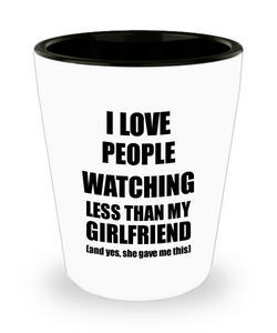 People Watching Boyfriend Shot Glass Funny Valentine Gift Idea For My Bf From Girlfriend I Love Liquor Lover Alcohol 1.5 oz Shotglass-Shot Glass