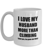 Load image into Gallery viewer, Climbing Wife Mug Funny Valentine Gift Idea For My Spouse Lover From Husband Coffee Tea Cup-Coffee Mug