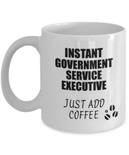 Load image into Gallery viewer, Government Service Executive Mug Instant Just Add Coffee Funny Gift Idea for Coworker Present Workplace Joke Office Tea Cup-Coffee Mug