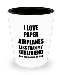 Paper Airplanes Boyfriend Shot Glass Funny Valentine Gift Idea For My Bf From Girlfriend I Love Liquor Lover Alcohol 1.5 oz Shotglass-Shot Glass