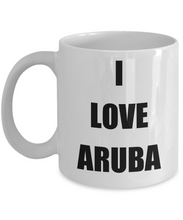 Load image into Gallery viewer, I Love Aruba Coffee Mug Funny Gift Idea Novelty Gag Coffee Tea Cup-Coffee Mug
