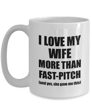 Load image into Gallery viewer, Fast-Pitch Husband Mug Funny Valentine Gift Idea For My Hubby Lover From Wife Coffee Tea Cup-Coffee Mug
