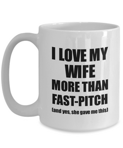 Fast-Pitch Husband Mug Funny Valentine Gift Idea For My Hubby Lover From Wife Coffee Tea Cup-Coffee Mug