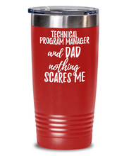 Load image into Gallery viewer, Funny Technical Program Manager Dad Tumbler Gift Idea for Father Gag Joke Nothing Scares Me Coffee Tea Insulated Cup With Lid-Tumbler
