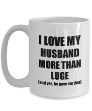 Load image into Gallery viewer, Luge Wife Mug Funny Valentine Gift Idea For My Spouse Lover From Husband Coffee Tea Cup-Coffee Mug