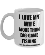 Load image into Gallery viewer, Big-Game Fishing Husband Mug Funny Valentine Gift Idea For My Hubby Lover From Wife Coffee Tea Cup-Coffee Mug
