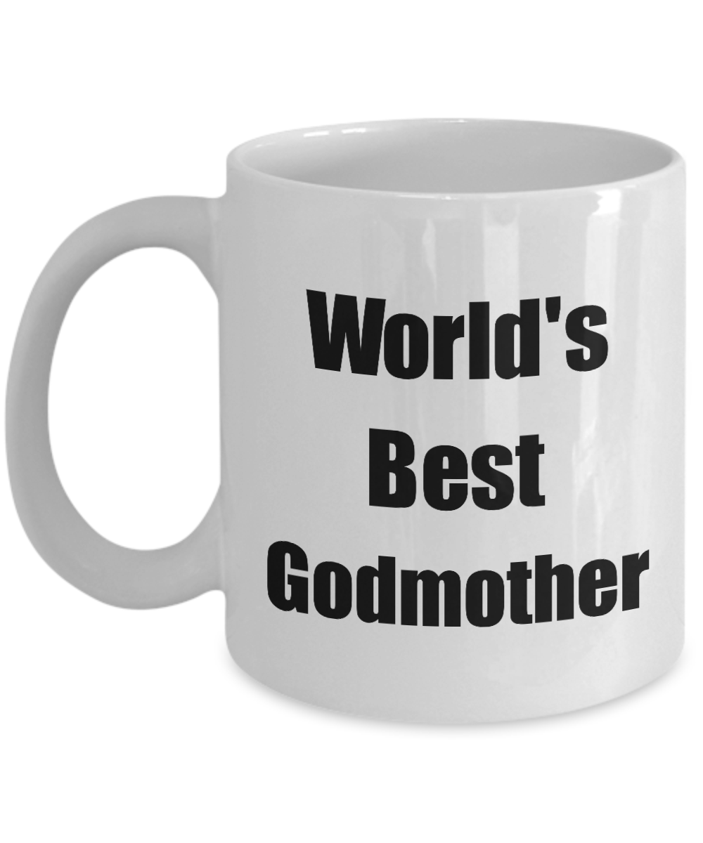 Worlds Best Godmother Mug Funny Christmas Gift Idea For Novelty Gag Coffee Tea Cup