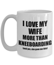 Load image into Gallery viewer, Kneeboarding Husband Mug Funny Valentine Gift Idea For My Hubby Lover From Wife Coffee Tea Cup-Coffee Mug