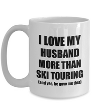 Load image into Gallery viewer, Ski Touring Wife Mug Funny Valentine Gift Idea For My Spouse Lover From Husband Coffee Tea Cup-Coffee Mug