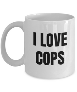 I Love Cops Mug Funny Gift Idea Novelty Gag Coffee Tea Cup-Coffee Mug