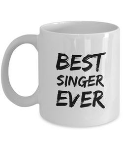 Singer Mug Best Sing Lover Ever Funny Gift for Coworkers Novelty Gag Coffee Tea Cup-Coffee Mug