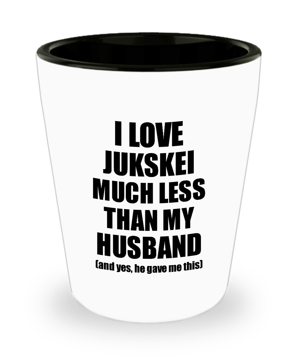 Jukskei Wife Shot Glass Funny Valentine Gift Idea For My Spouse From Husband I Love Liquor Lover Alcohol 1.5 oz Shotglass-Shot Glass