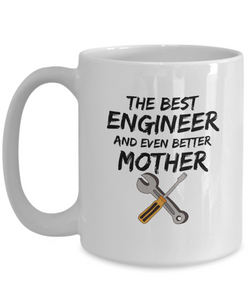 Engineer Mom Mug Best Mother Funny Gift for Mama Novelty Gag Coffee Tea Cup-Coffee Mug