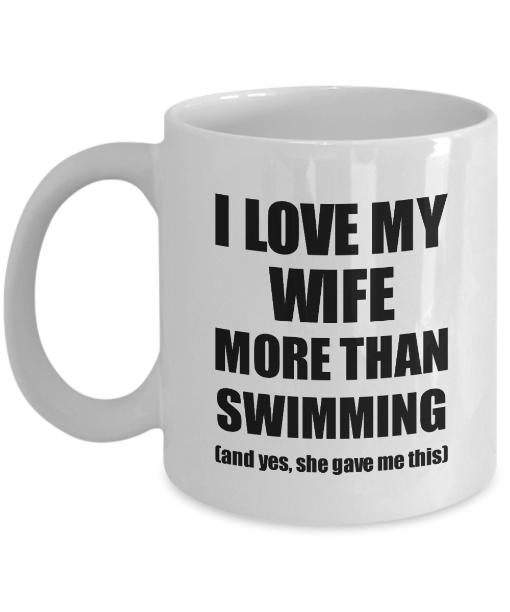 Swimming Husband Mug Funny Valentine Gift Idea For My Hubby Lover From Wife Coffee Tea Cup-Coffee Mug