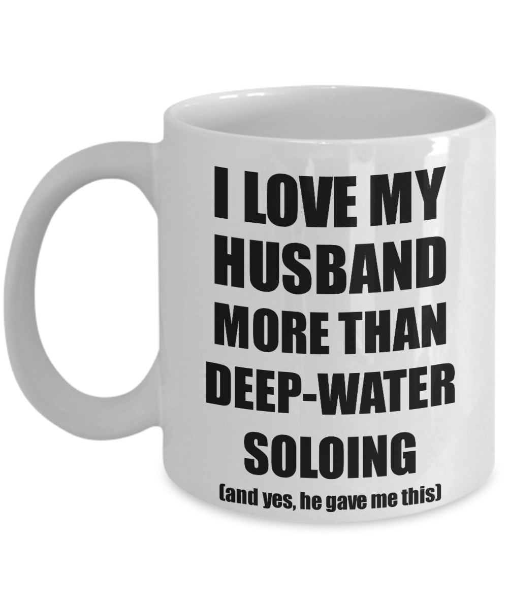 Deep-Water Soloing Wife Mug Funny Valentine Gift Idea For My Spouse Lover From Husband Coffee Tea Cup-Coffee Mug