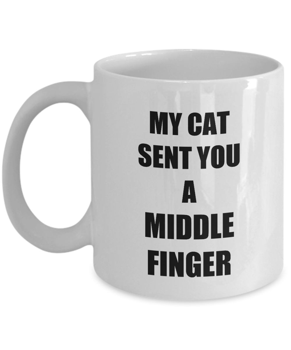 Cat Middle Finger Mug Funny Gift Idea for Novelty Gag Coffee Tea Cup-[style]