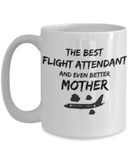 Load image into Gallery viewer, Funny Flight Attendant Mom Gift Best Mother Mug for Mama Novelty Gag Coffee Tea Cup Black Plane-Coffee Mug