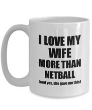 Load image into Gallery viewer, Netball Husband Mug Funny Valentine Gift Idea For My Hubby Lover From Wife Coffee Tea Cup-Coffee Mug
