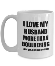 Load image into Gallery viewer, Bouldering Wife Mug Funny Valentine Gift Idea For My Spouse Lover From Husband Coffee Tea Cup-Coffee Mug
