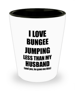 Bungee Jumping Wife Shot Glass Funny Valentine Gift Idea For My Spouse From Husband I Love Liquor Lover Alcohol 1.5 oz Shotglass-Shot Glass