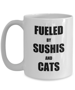 Cat Sushi Mug Funny Gift Idea for Novelty Gag Coffee Tea Cup-Coffee Mug