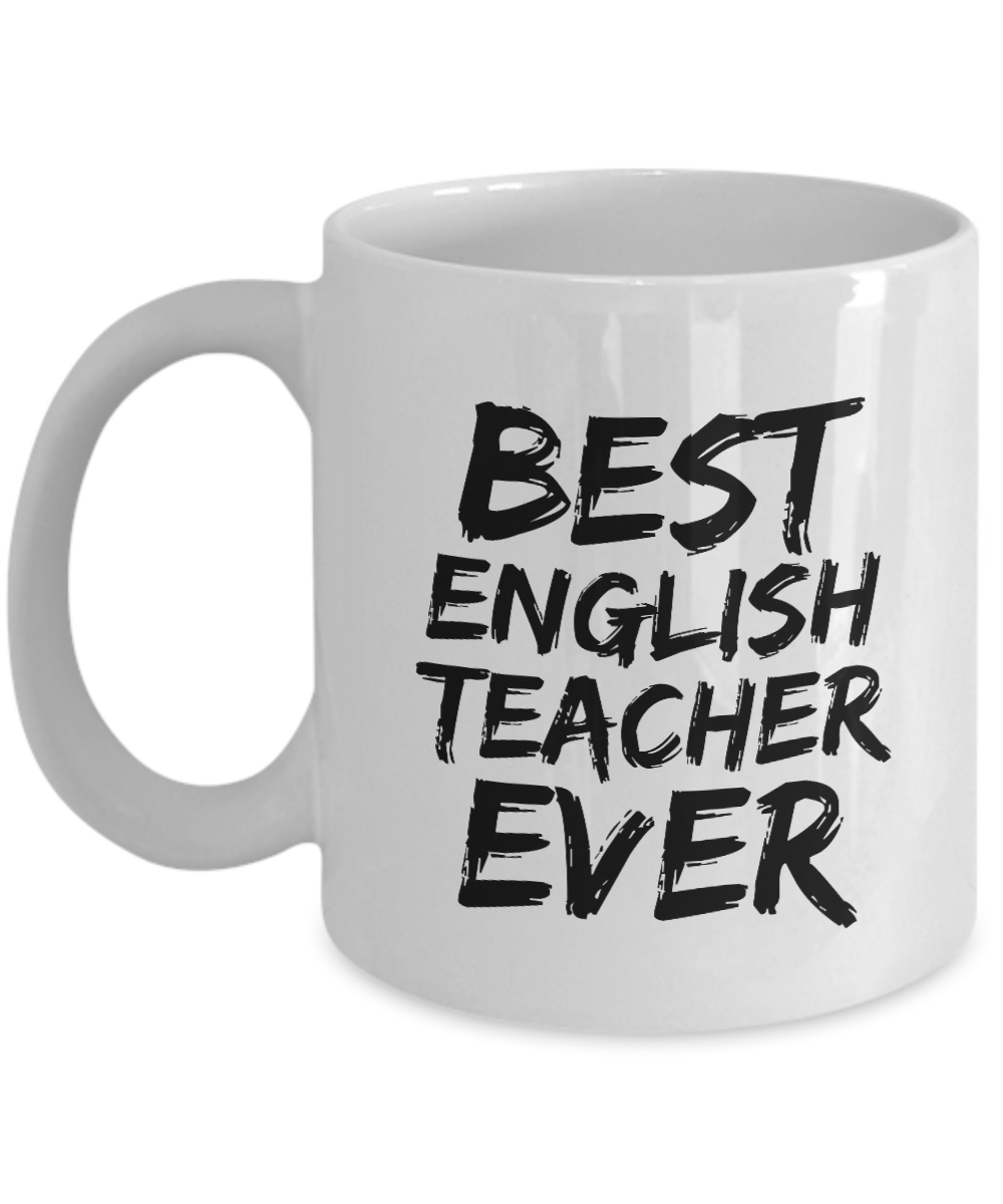 English Teacher Mug Best Prof Ever Funny Gift for Coworkers Novelty Gag Coffee Tea Cup-Coffee Mug
