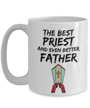 Load image into Gallery viewer, Priest Dad Mug - Best Priest Father Ever - Funny Gift for Priest Daddy-Coffee Mug