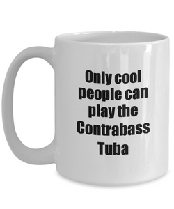 Contrabass Tuba Player Mug Musician Funny Gift Idea Gag Coffee Tea Cup-Coffee Mug