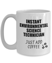 Load image into Gallery viewer, Environmental Science Technician Mug Instant Just Add Coffee Funny Gift Idea for Coworker Present Workplace Joke Office Tea Cup-Coffee Mug