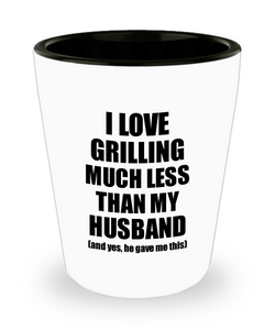 Grilling Wife Shot Glass Funny Valentine Gift Idea For My Spouse From Husband I Love Liquor Lover Alcohol 1.5 oz Shotglass-Shot Glass