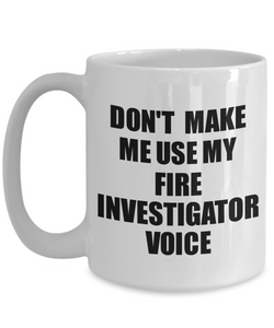 Fire Investigator Mug Coworker Gift Idea Funny Gag For Job Coffee Tea Cup Voice-Coffee Mug
