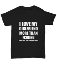 Load image into Gallery viewer, Fishing Boyfriend T-Shirt Funny Valentine Gift For Bf Unisex Tee-Shirt / Hoodie