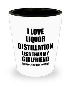 Liquor Distillation Boyfriend Shot Glass Funny Valentine Gift Idea For My Bf From Girlfriend I Love Liquor Lover Alcohol 1.5 oz Shotglass-Shot Glass